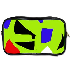 Green Abstraction Toiletries Bags by Valentinaart