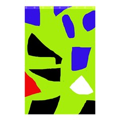 Green Abstraction Shower Curtain 48  X 72  (small)  by Valentinaart