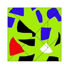 Green Abstraction Acrylic Tangram Puzzle (6  X 6 ) by Valentinaart