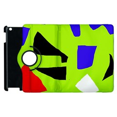 Green Abstraction Apple Ipad 3/4 Flip 360 Case by Valentinaart