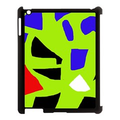 Green Abstraction Apple Ipad 3/4 Case (black) by Valentinaart