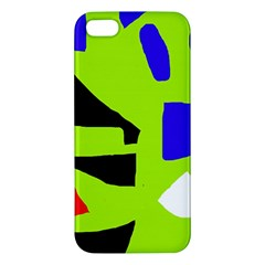 Green Abstraction Apple Iphone 5 Premium Hardshell Case by Valentinaart
