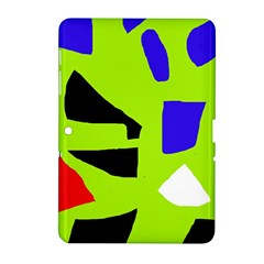Green Abstraction Samsung Galaxy Tab 2 (10 1 ) P5100 Hardshell Case  by Valentinaart
