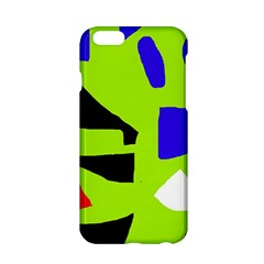 Green Abstraction Apple Iphone 6/6s Hardshell Case by Valentinaart