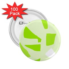 Green Abstract Design 2 25  Buttons (100 Pack)  by Valentinaart