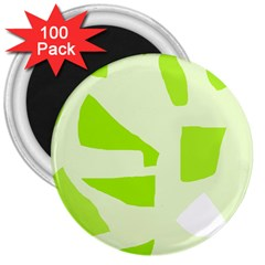 Green Abstract Design 3  Magnets (100 Pack) by Valentinaart