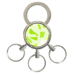 Green Abstract Design 3 Ring Key Chains by Valentinaart