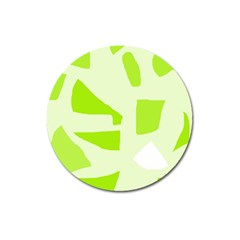 Green Abstract Design Magnet 3  (round) by Valentinaart