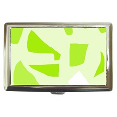 Green Abstract Design Cigarette Money Cases by Valentinaart