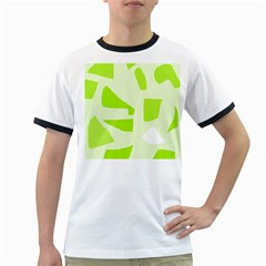 Green Abstract Design Ringer T Shirts by Valentinaart