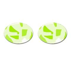 Green Abstract Design Cufflinks (oval) by Valentinaart