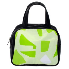 Green Abstract Design Classic Handbags (one Side) by Valentinaart