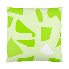 Green Abstract Design Standard Cushion Case (one Side) by Valentinaart