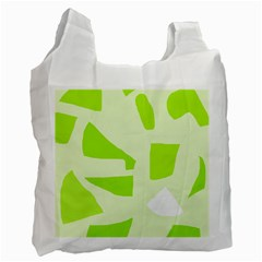 Green Abstract Design Recycle Bag (two Side)  by Valentinaart