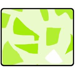 Green Abstract Design Fleece Blanket (medium)  by Valentinaart