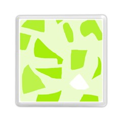 Green Abstract Design Memory Card Reader (square)  by Valentinaart