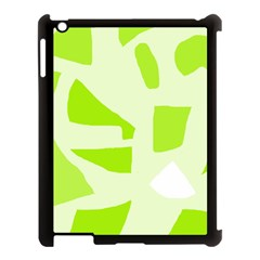 Green Abstract Design Apple Ipad 3/4 Case (black) by Valentinaart