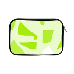Green Abstract Design Apple Ipad Mini Zipper Cases by Valentinaart