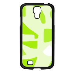 Green Abstract Design Samsung Galaxy S4 I9500/ I9505 Case (black)