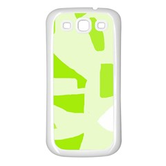 Green Abstract Design Samsung Galaxy S3 Back Case (white) by Valentinaart