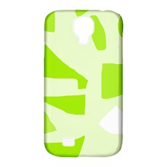Green Abstract Design Samsung Galaxy S4 Classic Hardshell Case (pc+silicone) by Valentinaart
