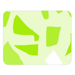 Green Abstract Design Double Sided Flano Blanket (large)  by Valentinaart