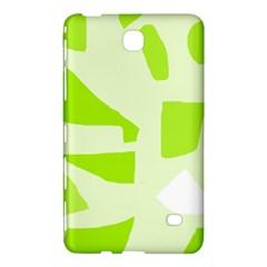 Green Abstract Design Samsung Galaxy Tab 4 (7 ) Hardshell Case  by Valentinaart