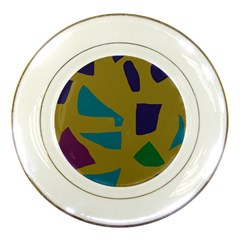 Colorful Abstraction Porcelain Plates by Valentinaart
