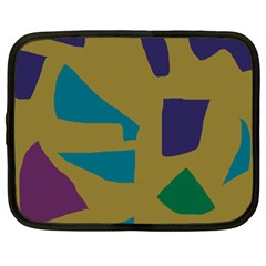 Colorful Abstraction Netbook Case (xl)  by Valentinaart
