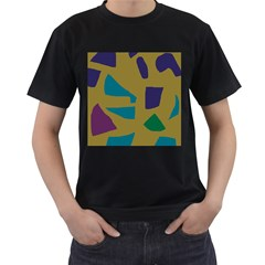 Colorful Abstraction Men s T Shirt (black) by Valentinaart