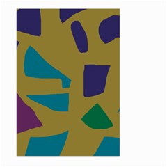 Colorful abstraction Large Garden Flag (Two Sides) by Valentinaart