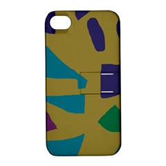 Colorful Abstraction Apple Iphone 4/4s Hardshell Case With Stand by Valentinaart