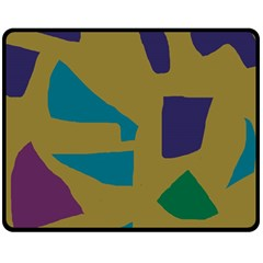 Colorful Abstraction Double Sided Fleece Blanket (medium)  by Valentinaart