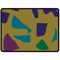 Colorful Abstraction Double Sided Fleece Blanket (large)  by Valentinaart