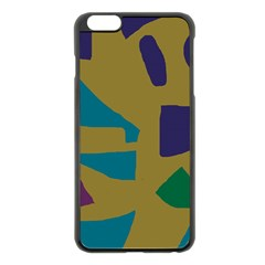 Colorful Abstraction Apple Iphone 6 Plus/6s Plus Black Enamel Case by Valentinaart