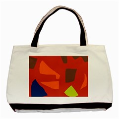 Red Abstraction Basic Tote Bag by Valentinaart