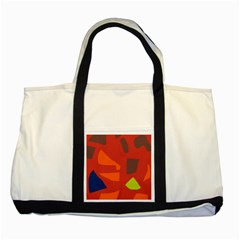 Red Abstraction Two Tone Tote Bag by Valentinaart