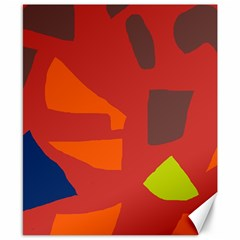 Red Abstraction Canvas 8  X 10  by Valentinaart