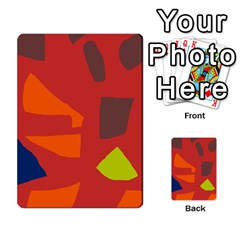 Red Abstraction Multi Purpose Cards (rectangle)  by Valentinaart