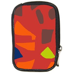 Red abstraction Compact Camera Cases by Valentinaart