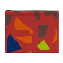 Red Abstraction Cosmetic Bag (xl) by Valentinaart