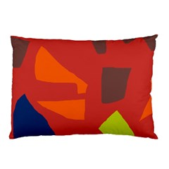 Red Abstraction Pillow Case (two Sides) by Valentinaart
