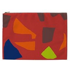 Red Abstraction Cosmetic Bag (xxl)  by Valentinaart