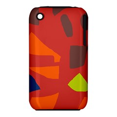 Red Abstraction Apple Iphone 3g/3gs Hardshell Case (pc+silicone) by Valentinaart