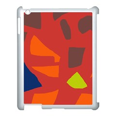 Red Abstraction Apple Ipad 3/4 Case (white) by Valentinaart