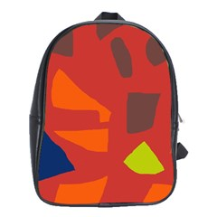 Red Abstraction School Bags (xl)  by Valentinaart