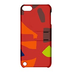 Red Abstraction Apple Ipod Touch 5 Hardshell Case With Stand by Valentinaart