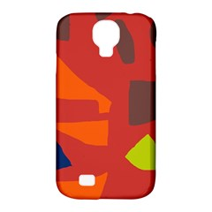 Red Abstraction Samsung Galaxy S4 Classic Hardshell Case (pc+silicone) by Valentinaart