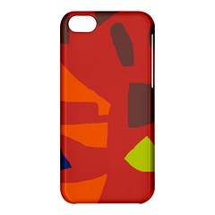 Red Abstraction Apple Iphone 5c Hardshell Case by Valentinaart