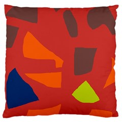 Red Abstraction Standard Flano Cushion Case (one Side) by Valentinaart